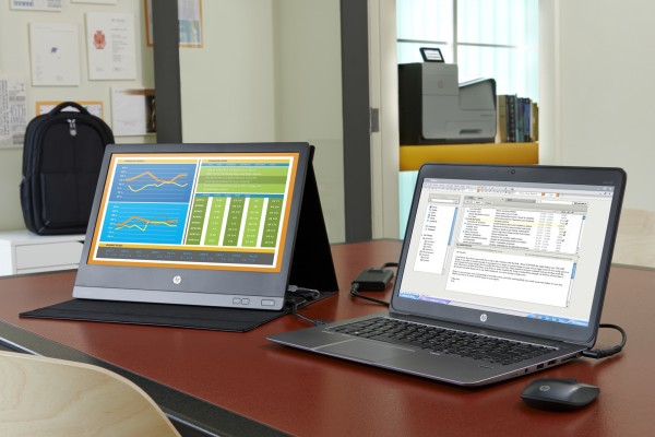 HP EliteBook Folio 1040 paired with the HP U160 and accessories with the HP Officejet Enterprise Color Printer